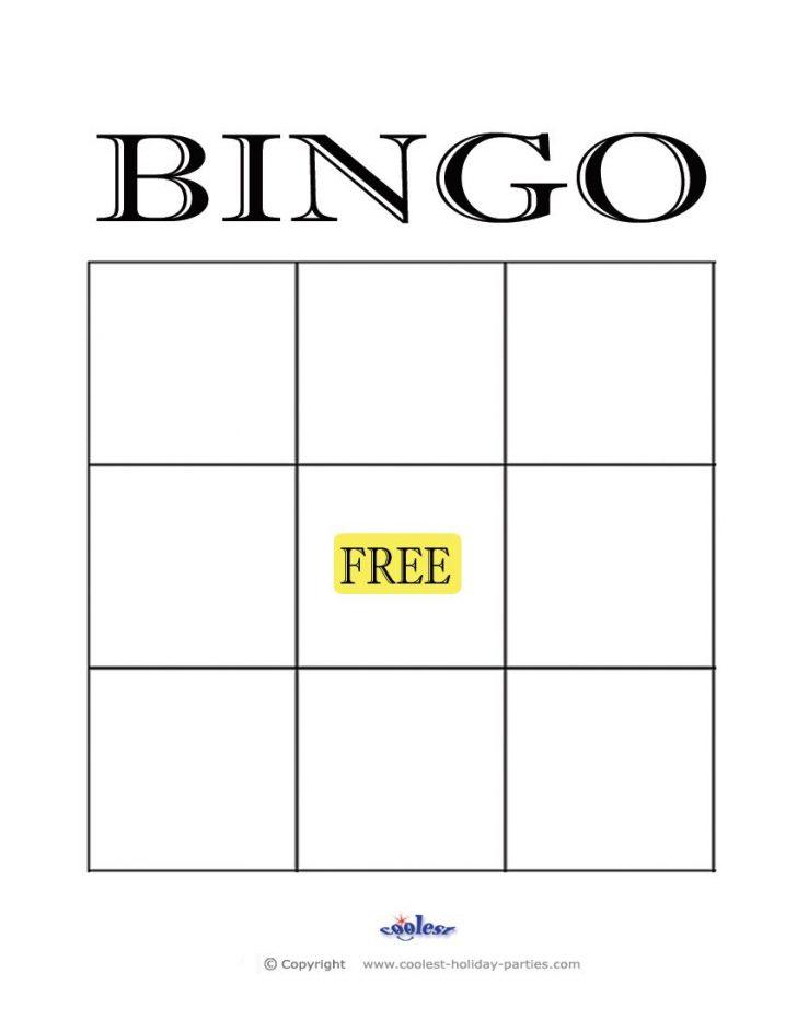 Free Bingo Card Blank Printable