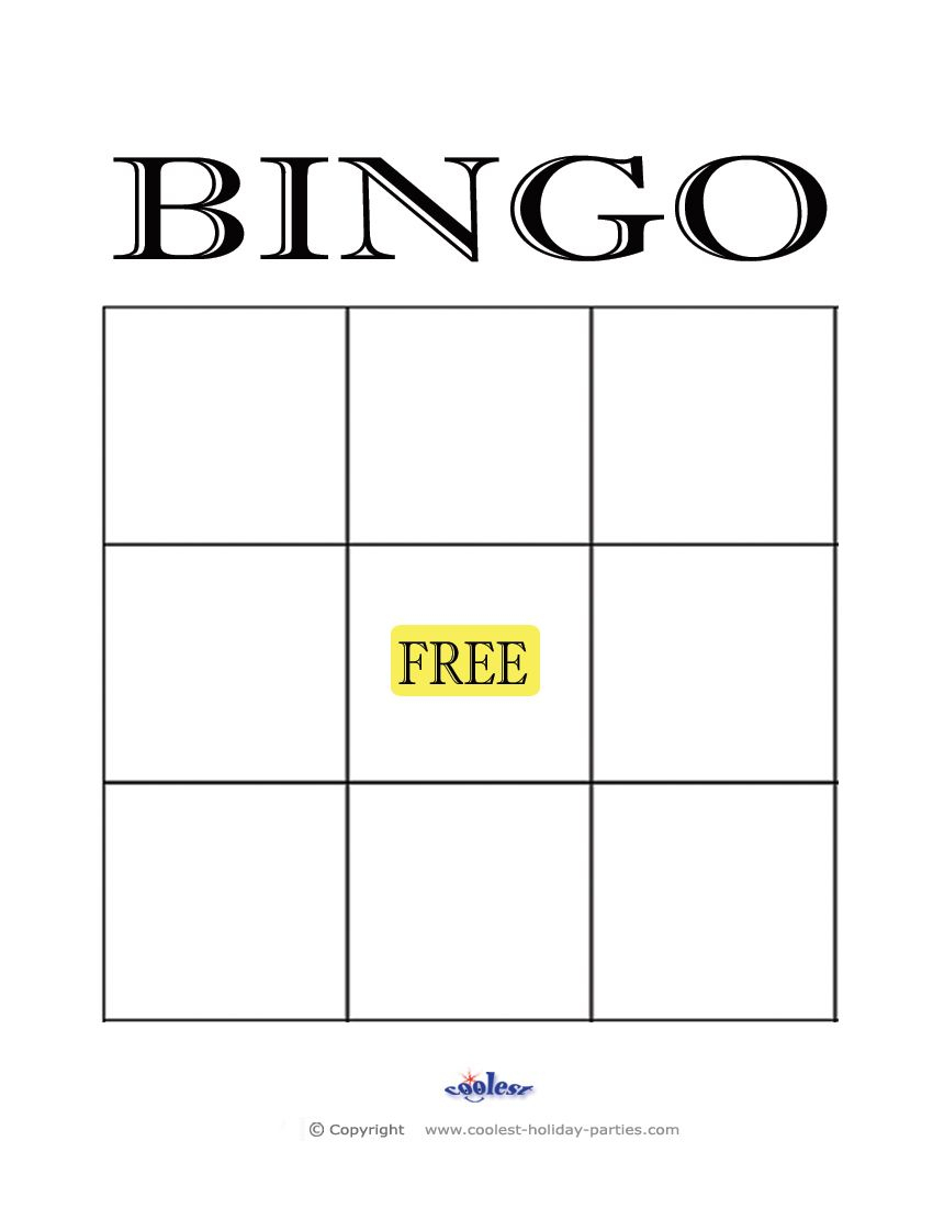 Free+Printable+Blank+Bingo+Cards+Template | Bingo Card