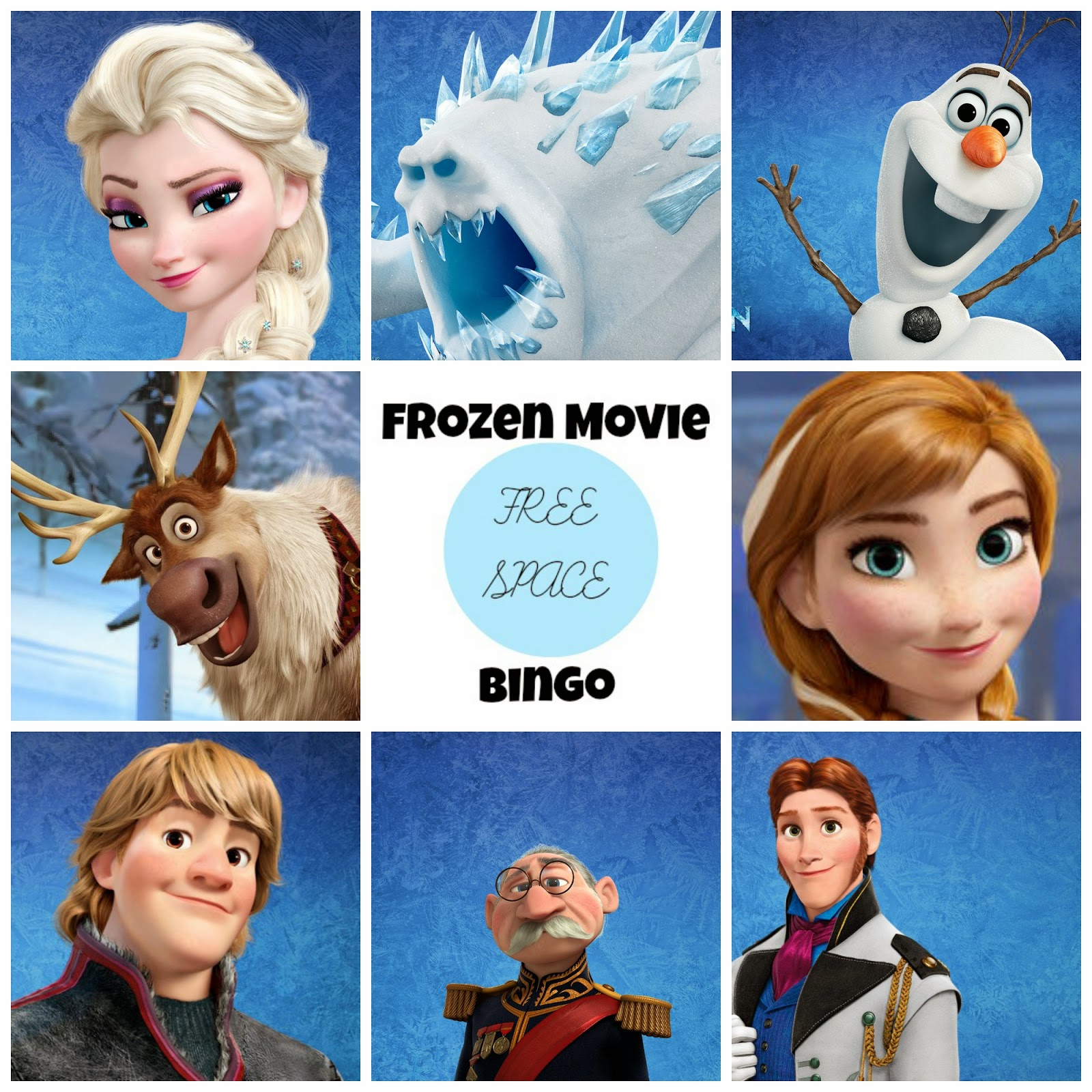 Frozen Free Printable Bingo. - Oh My Fiesta! In English
