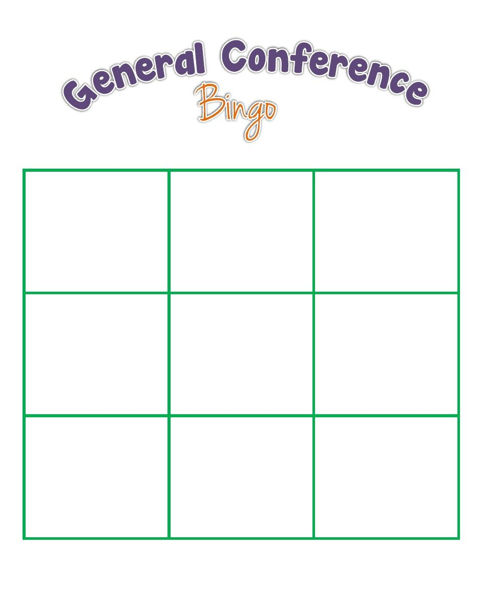 General Conference Bingo For The Kids | General Conference