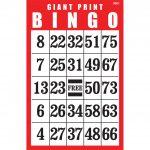 Giant Print Bingo Card  Red
