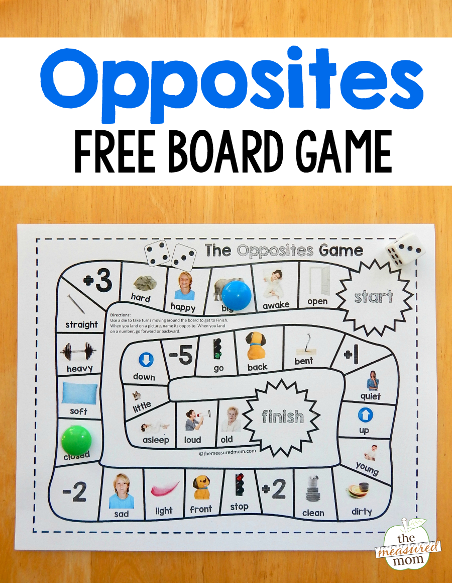Grab This Fun And Free Opposites Game For Preschool - Just