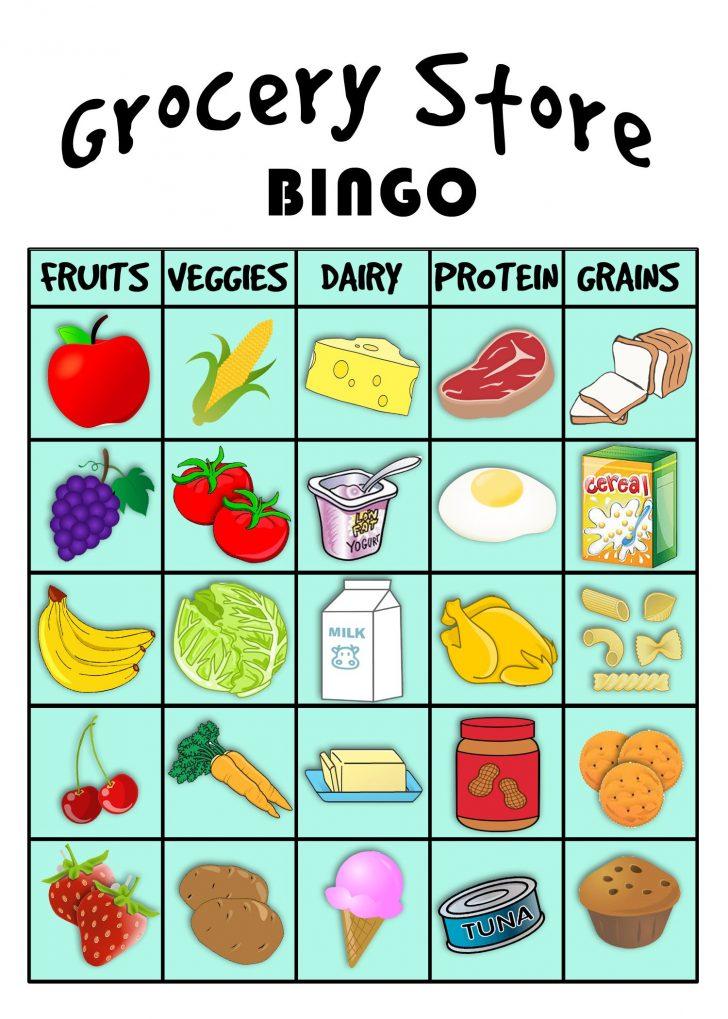 Free Printable Food Group Bingo Cards