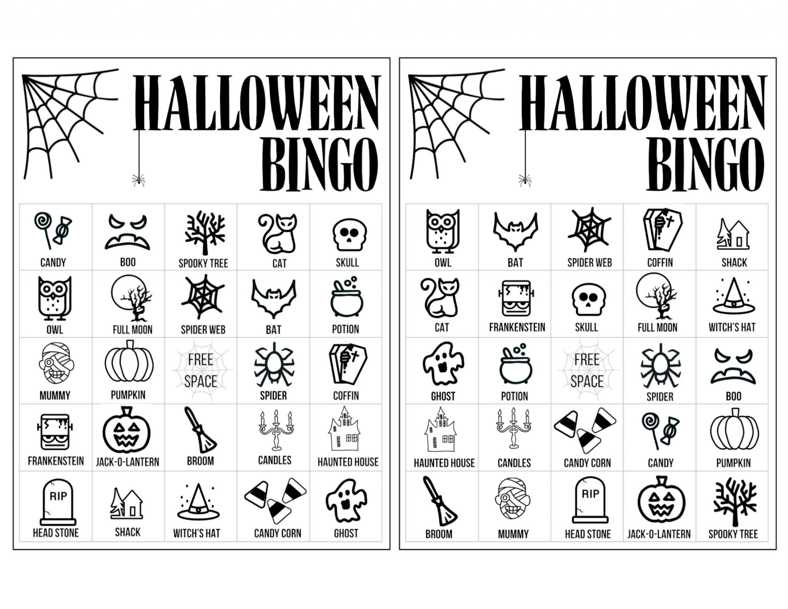 Halloween-Bingo-Cards-1-2 (2750×2125) | Halloween Bingo