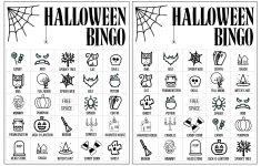 Halloween Bingo Printable Game Cards Template – Paper Trail