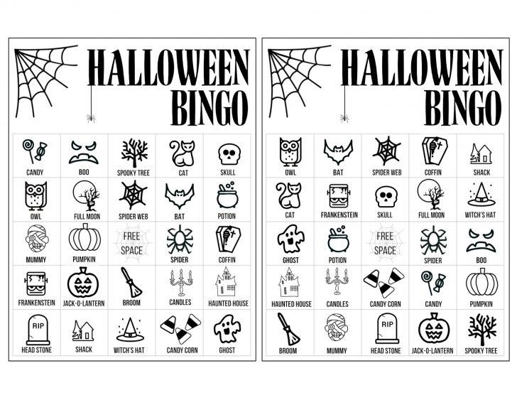 Halloween Bingo Printable Cards