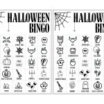 Halloween Bingo Printable Game Cards Template   Paper Trail