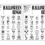 Halloween Bingo Printable Game Cards Template   Paper Trail