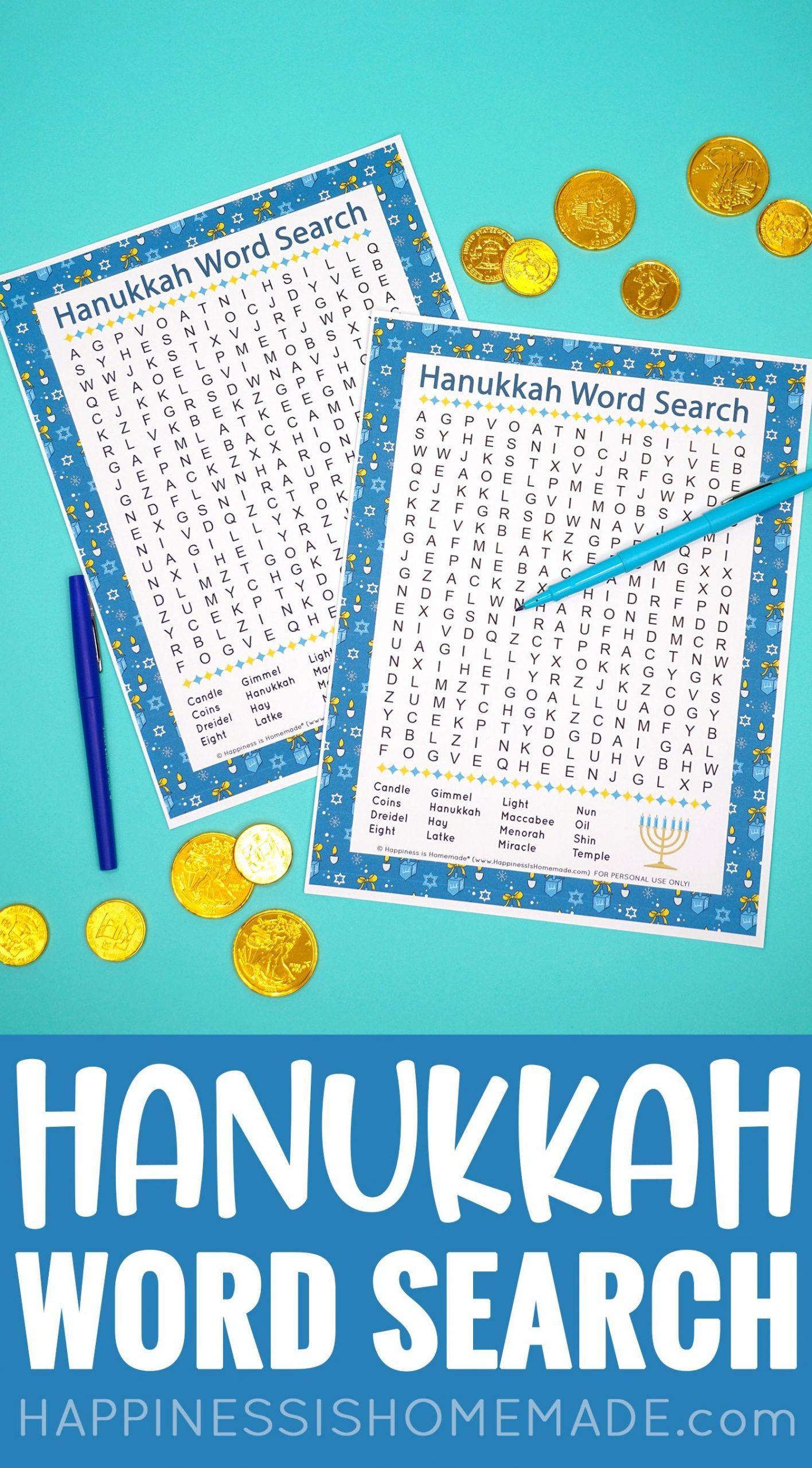 Hanukkah Word Search: This Fun Printable Hanukkah Word