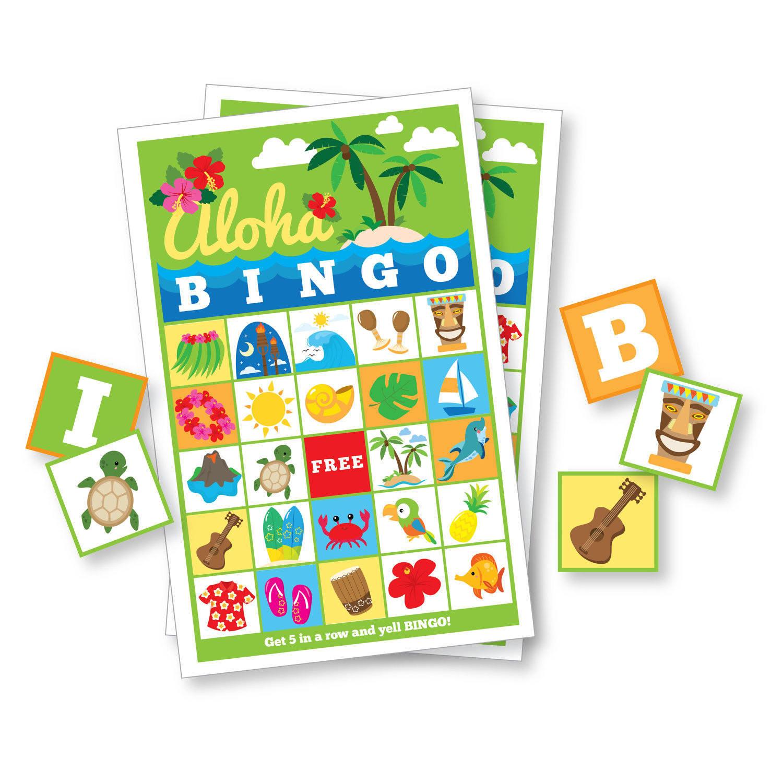 Hawaiian Bingo Game - Kid's Printable Bingo Game, 60