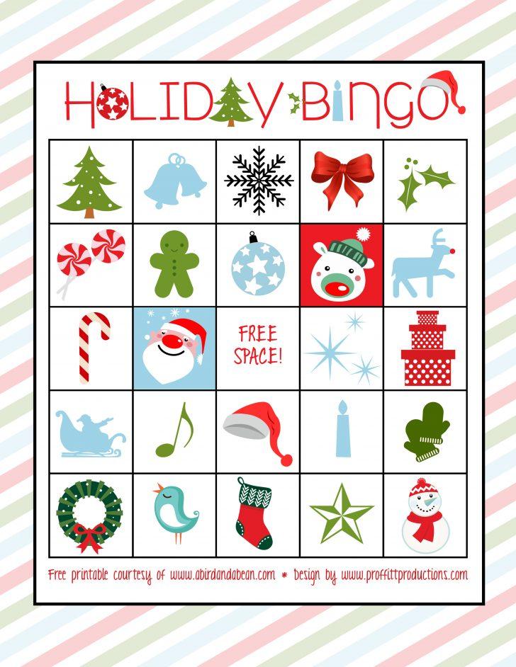 Free Holiday Bingo Printable Cards
