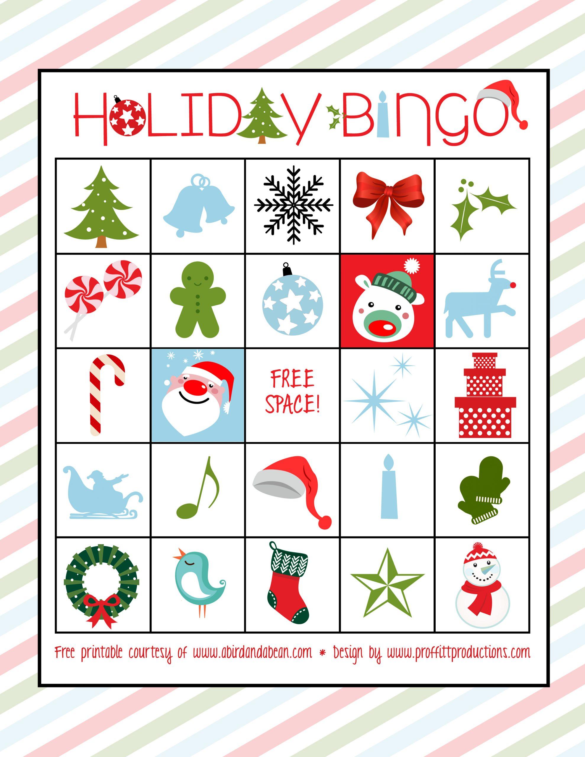 Holiday Bingo Christmas Bingo Clipart