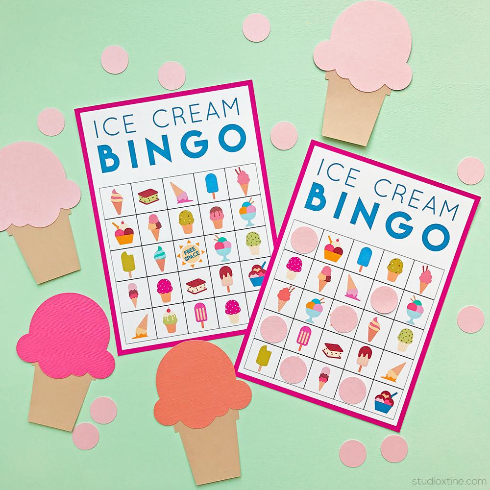 Ice Cream Bingo (Freebie!) – Studio Xtine