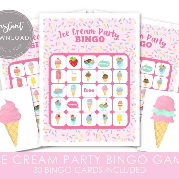 Printable Ice Cream Bingo Cards
