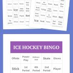 Ice Hockey Bingo | Free Bingo Cards, Bingo Cards Printable