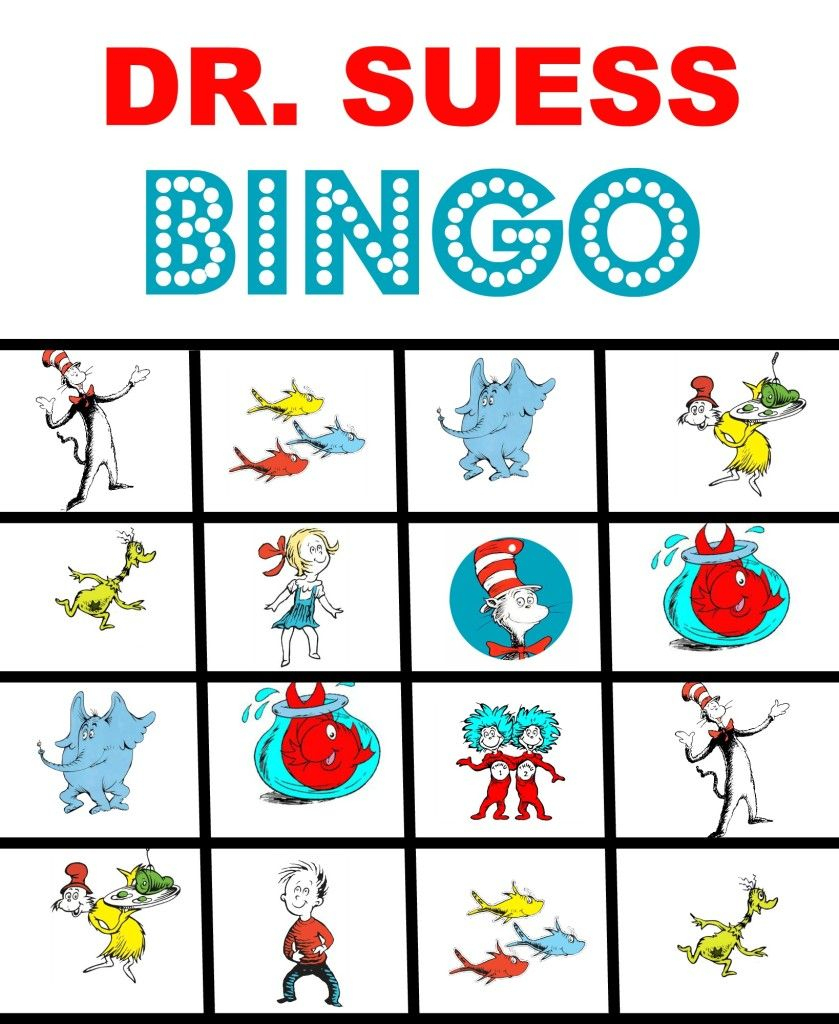 Image Result For Dr Seuss Bingo Printable | Printable Bingo