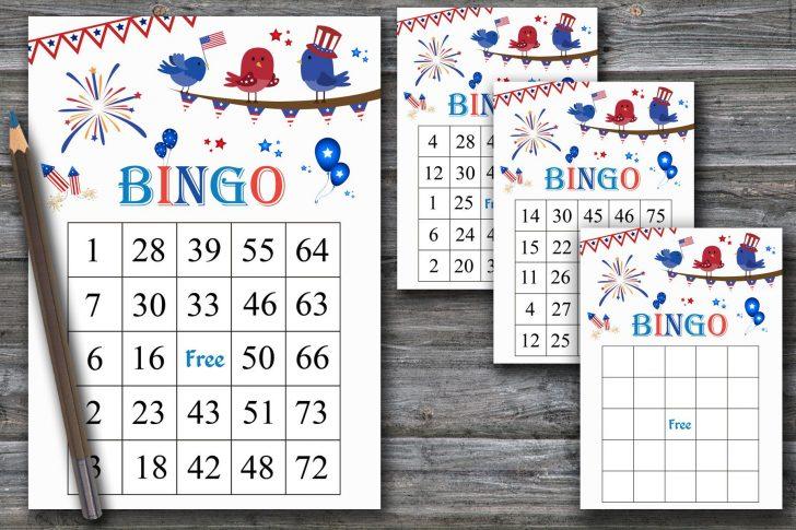 Printable Veterans Day Bingo Cards