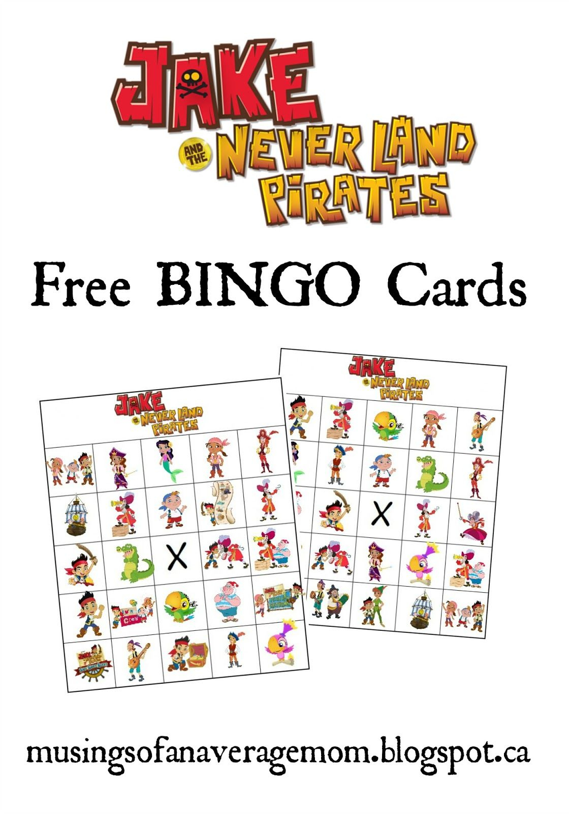 Jake And The Neverland Pirates Bingo | Bingo For Kids, Bingo