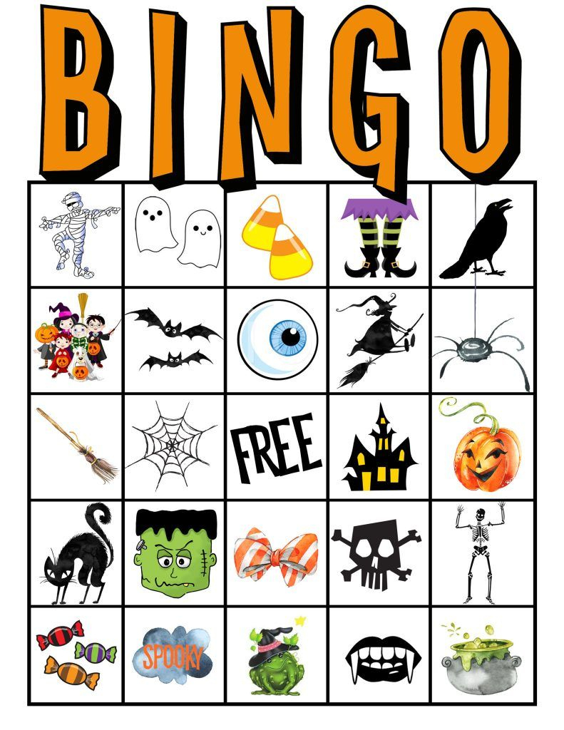 Kids Halloween Party Bingo Cards Free Printable | Halloween