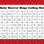 Ladybug Baby Bingo Cards   Printable Download   Prefilled