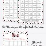 Ladybug Baby Shower Bingo Cards   Printable Blank Bingo