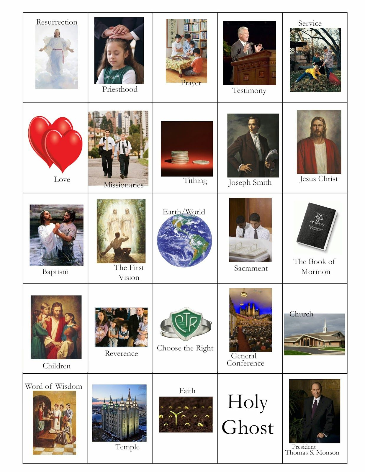 Lds General Conference Bingo Card Printables! | Bingo Cards