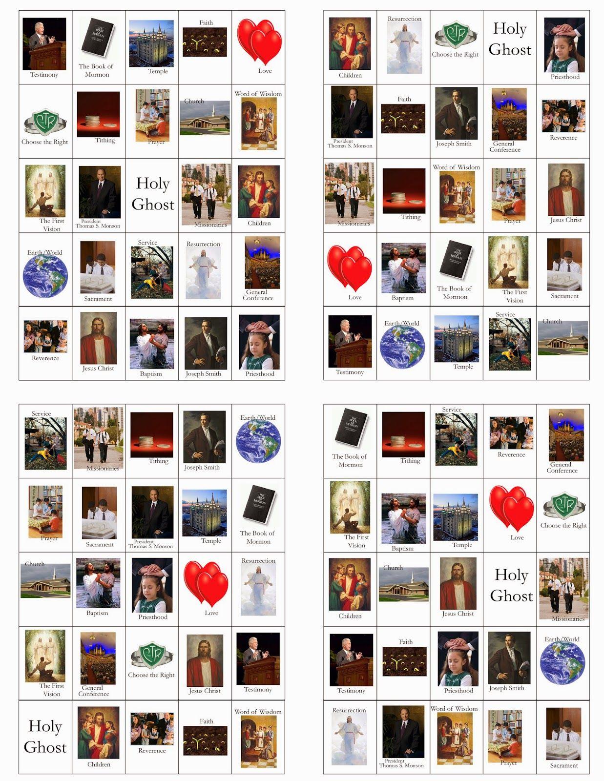 Lds General Conference Bingo Card Printables! | General