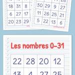 Les Nombres 0 31 Bingo | Bingo Cards Printable, Free