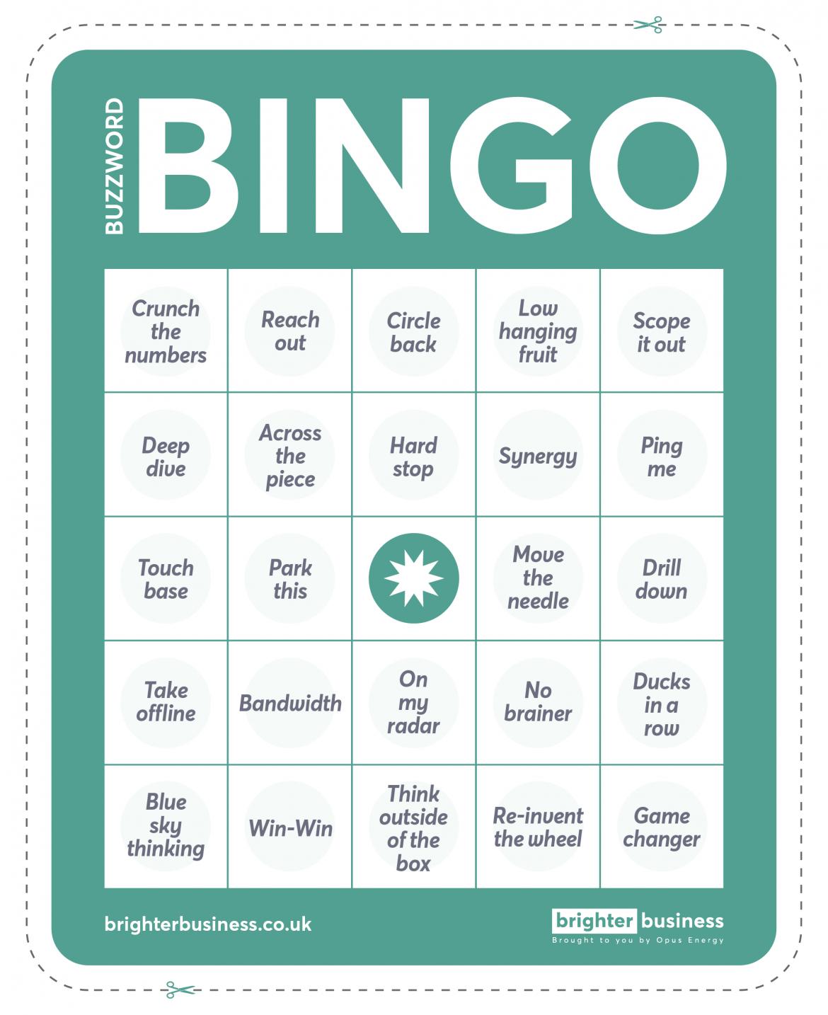 Let's Play Office Buzzword Bingo | Buzzword Bingo, Bingo