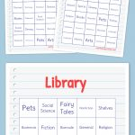 Library Bingo | Bingo Cards Printable, Free Printable Bingo