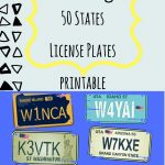 License Plate Bingo  The Perfect Printable Game For Trips