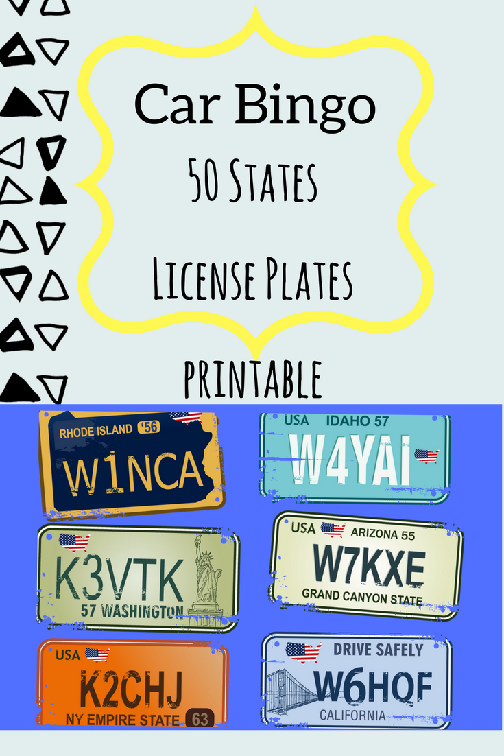 License Plate Bingo- The Perfect Printable Game For Trips