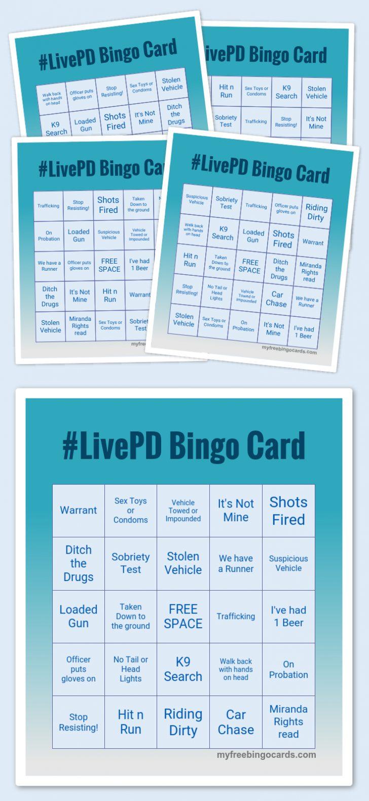 Live Pd Bingo Card Printable