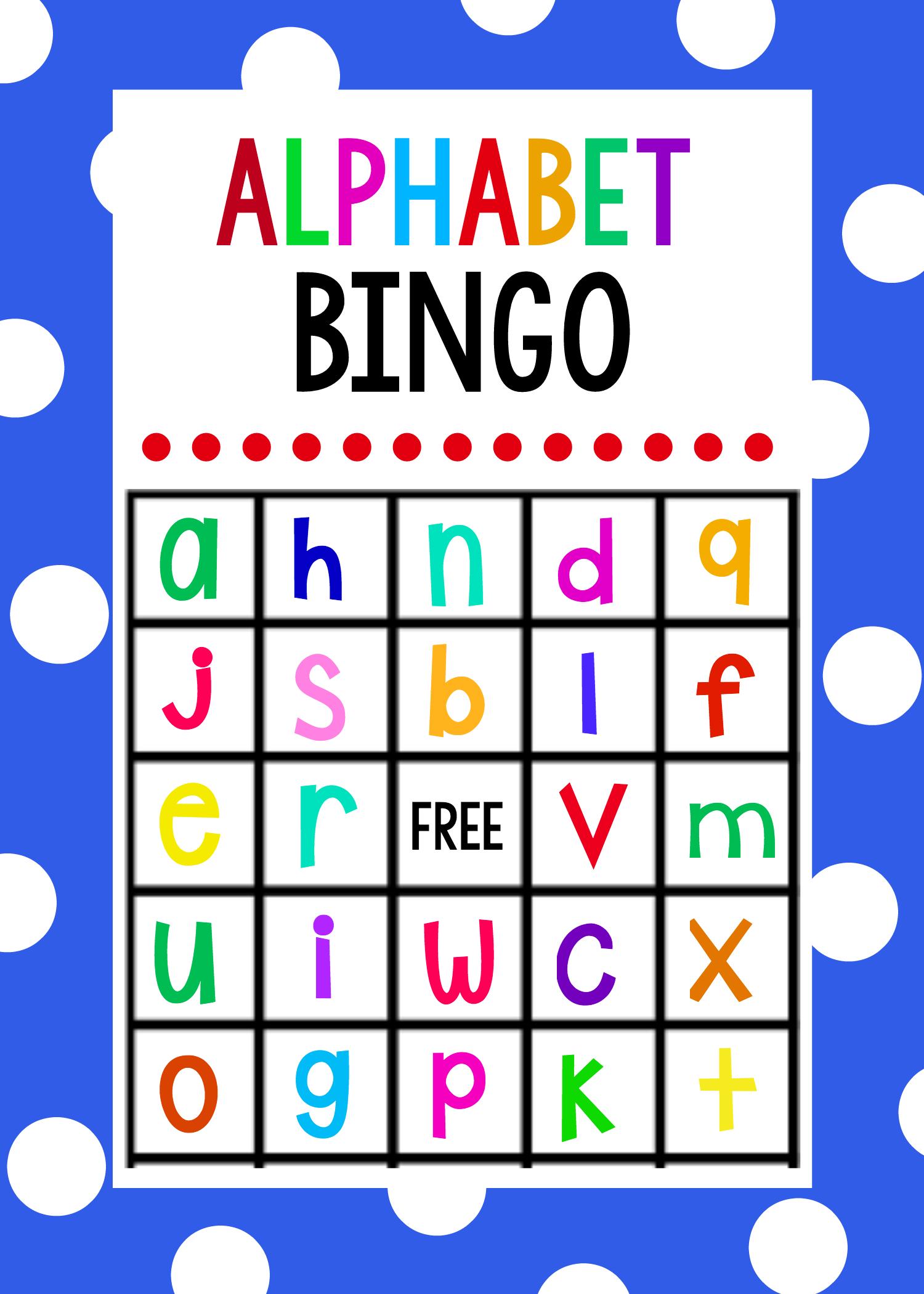 Lowercase Alphabet Bingo Game | Alphabet Games For