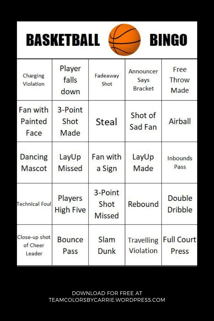March Madness Party Games – Basketball Bingo | Basketball