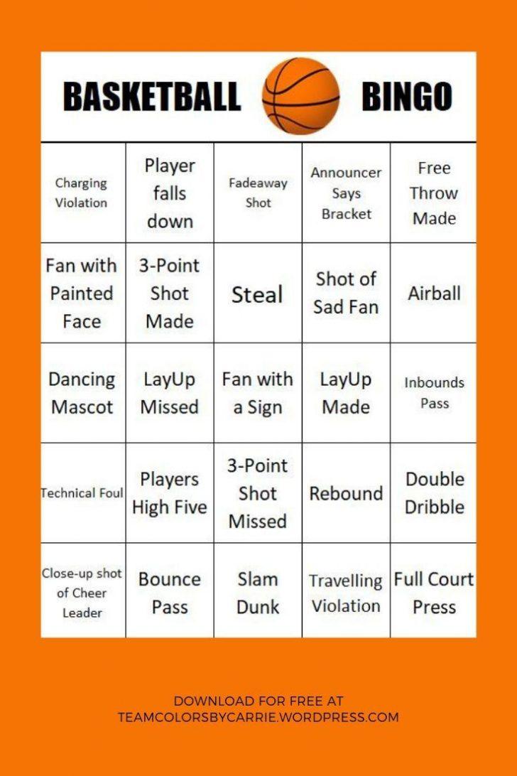 Free Printable Basketball Bingo Cards