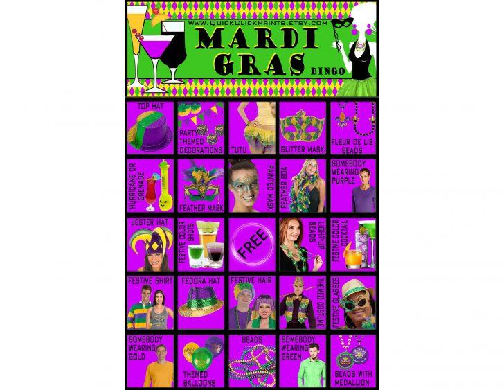 Free Printable Mardi Gras Bingo Cards