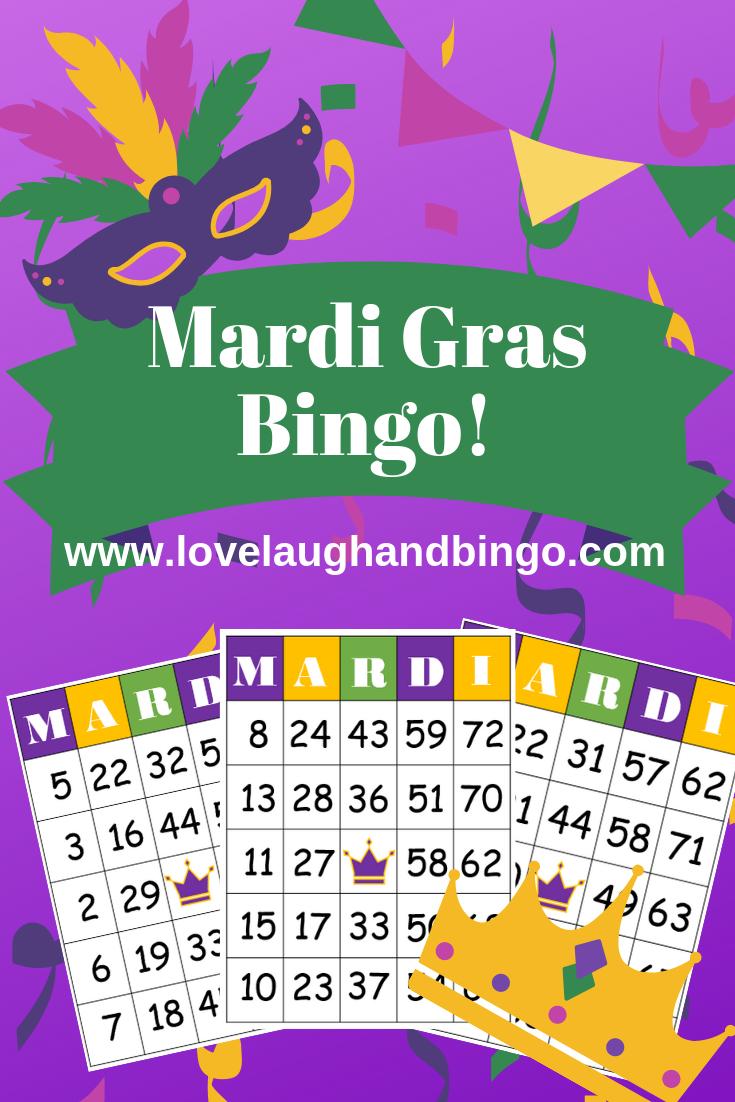 Mardi Gras Bingo Game -   Mardi Gras, Mardi Gras Activities