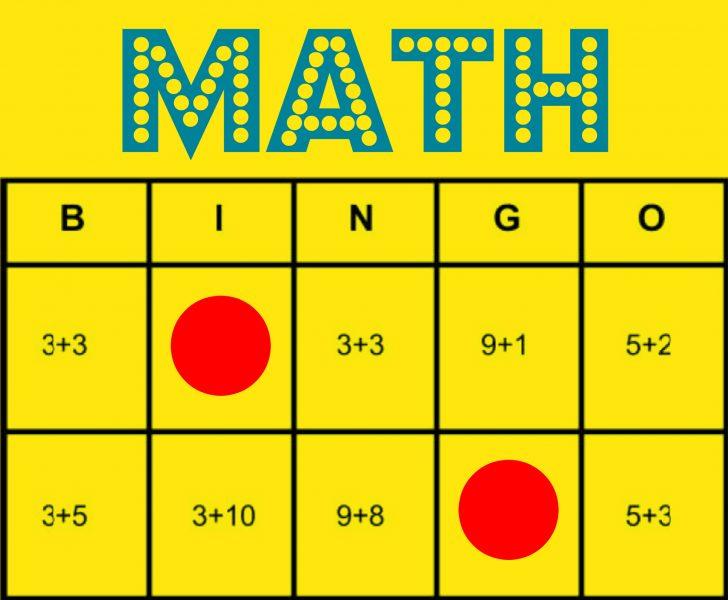 Addition Bingo Cards Printable