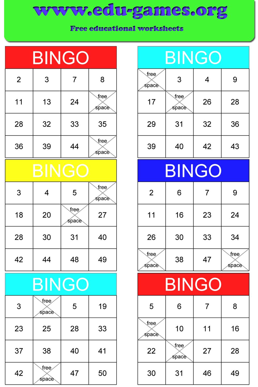 Math Bingo | Free Printable Pdf Math Bingo Cards