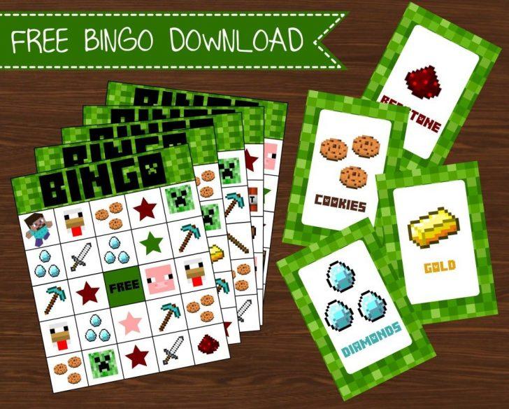 Printable Minecraft Bingo Cards