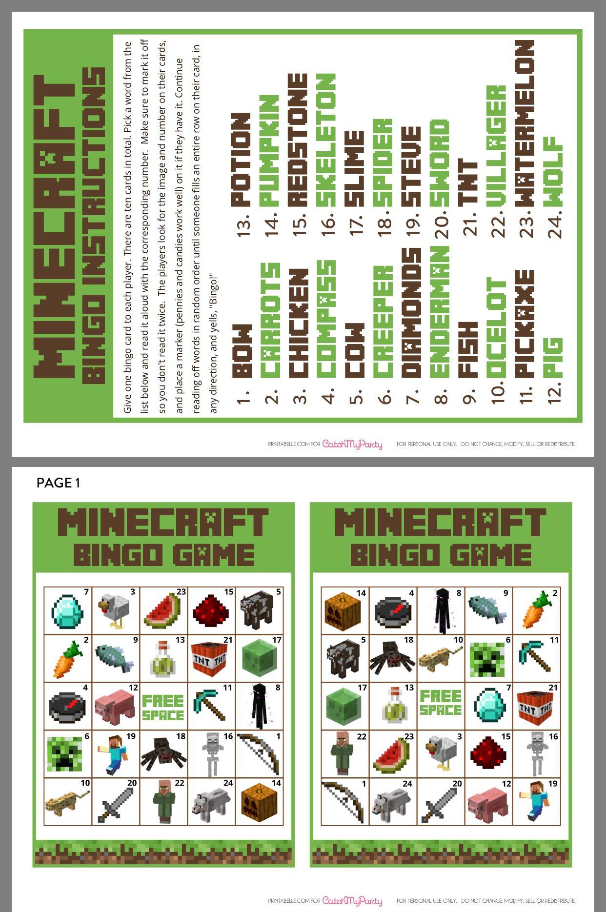 Minecraft Bingo   Minecraft Bingo, Minecraft Activities