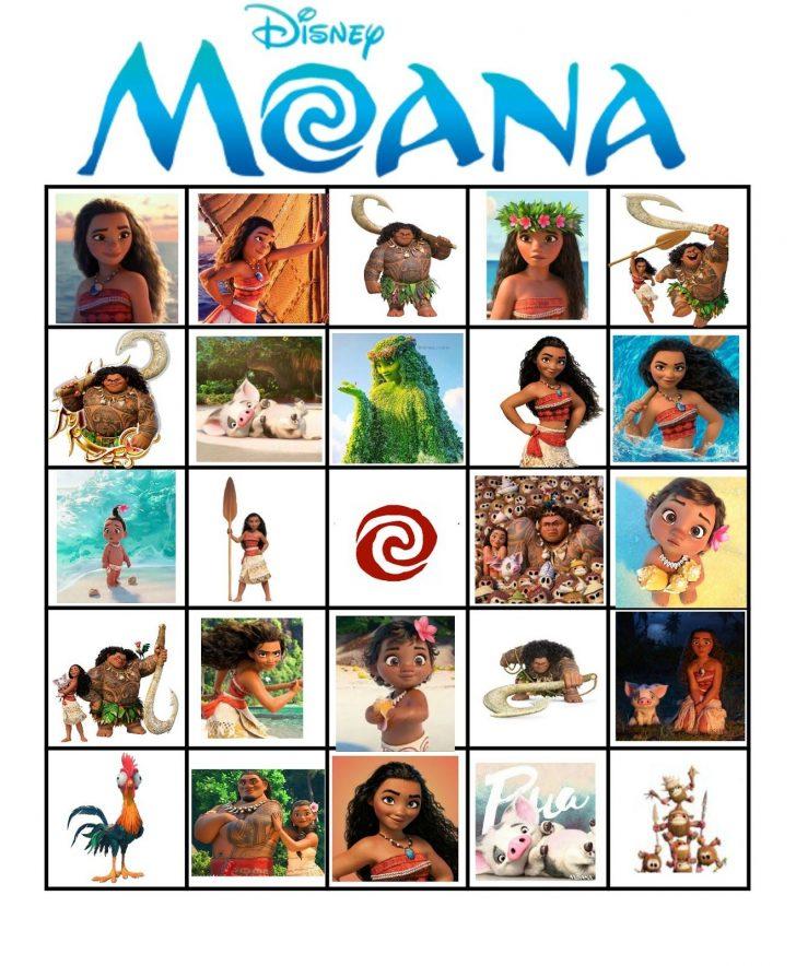 Free Printable Moana Bingo Cards