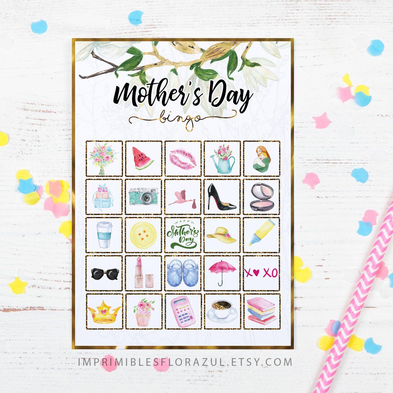 Mother's Day Celebration Bingo, Party Game   Imprimibles De