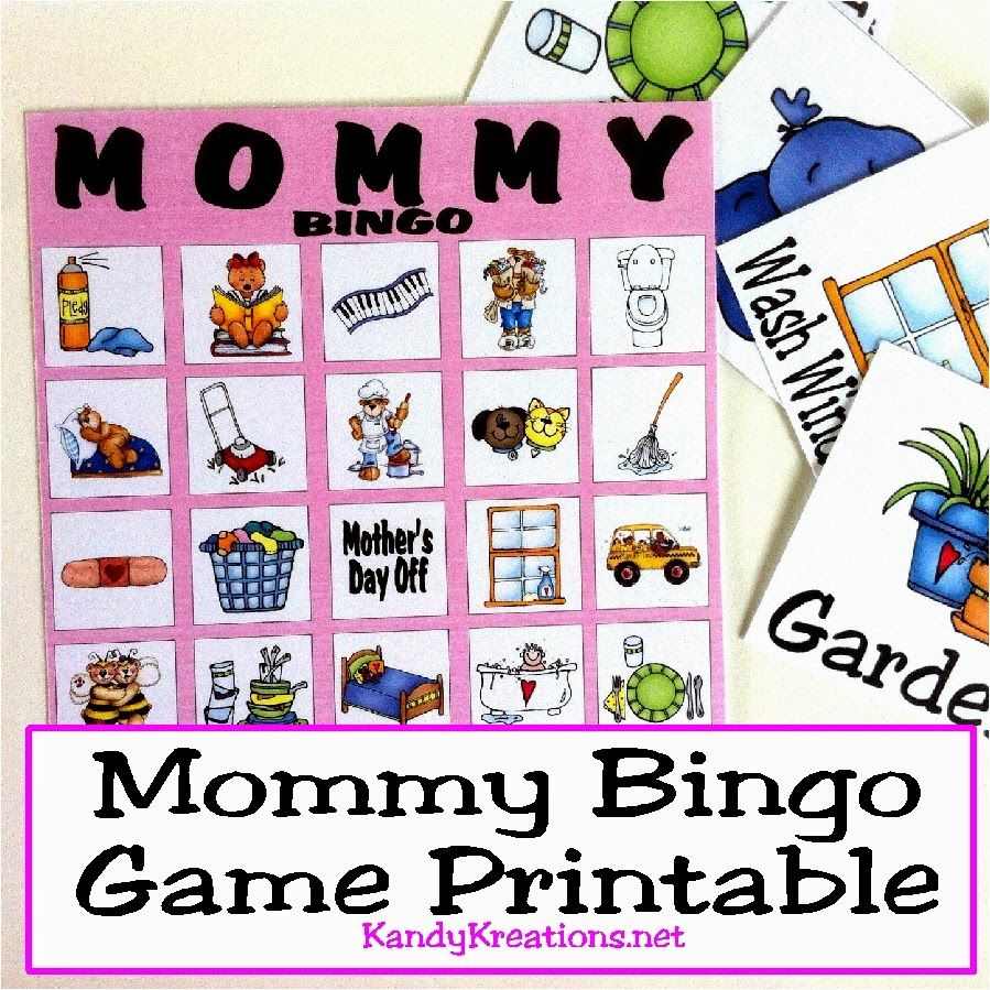 Mothers Day Mommy Bingo Game Printable   Mother's Day Games