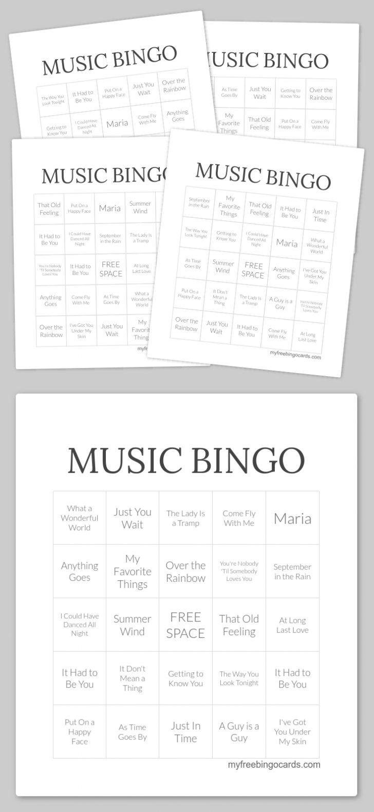 Free Printable Naughty Bingo Cards