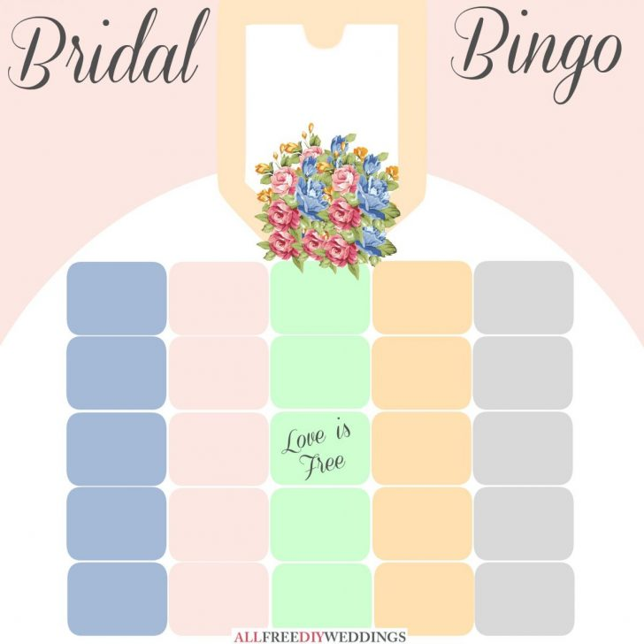 Printable Blank Bingo Cards For Bridal Shower