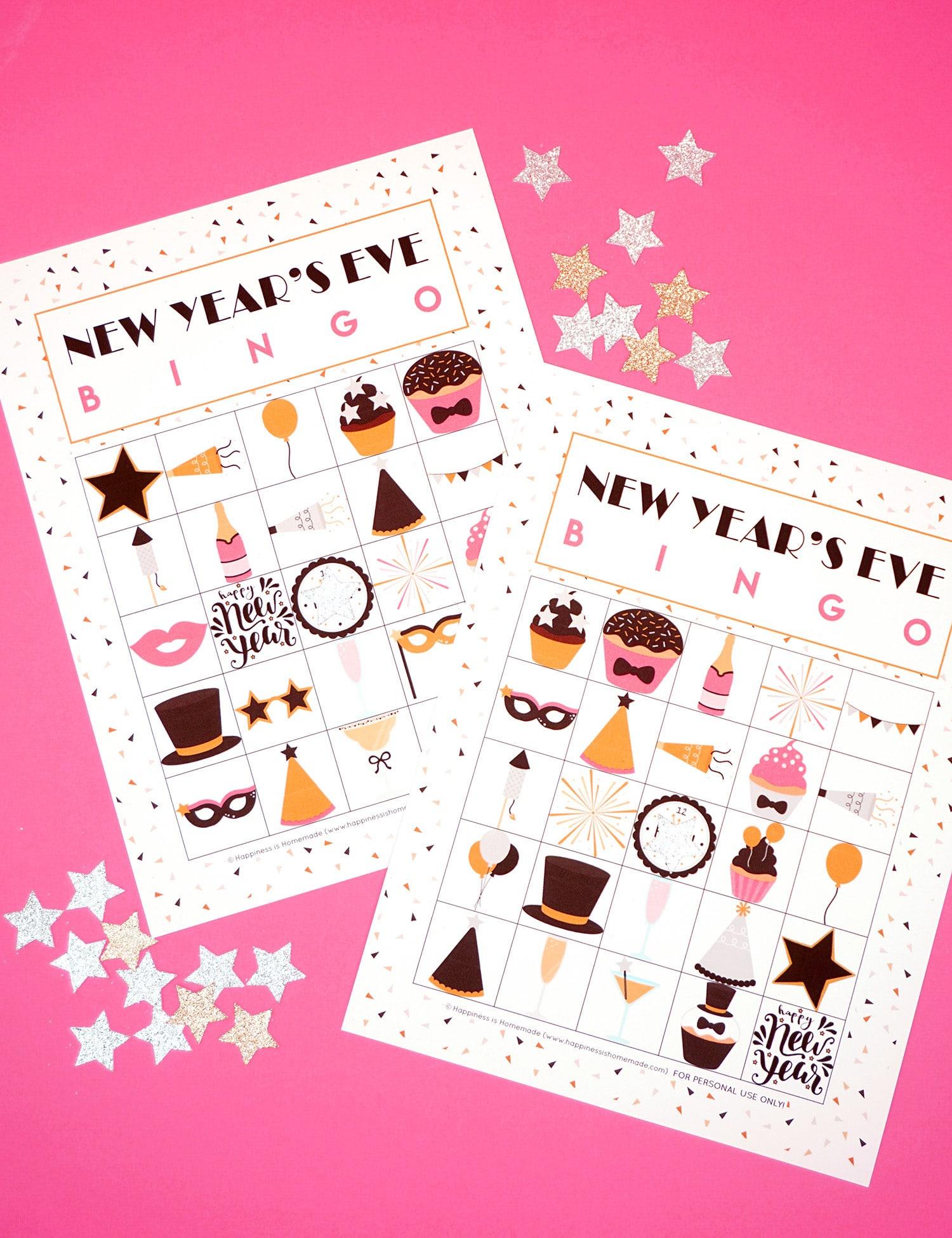 New Year's Eve Bingo Printable - Happiness Is Homemade