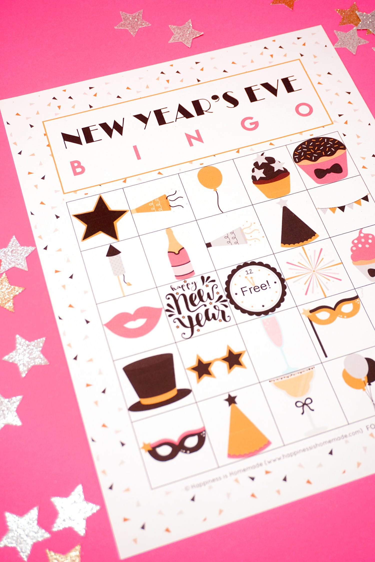 New Year's Eve Bingo Printable - Happiness Is Homemade