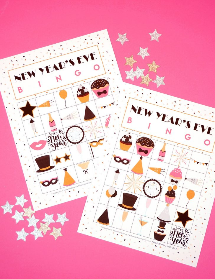 Free Printable New Years Eve Bingo Cards